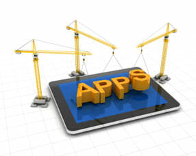 Cranes developing a mobile app
